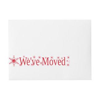 We've Moved Snowflake Christmas Wrap Around Address Label