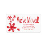 """We've Moved snowflake holiday Label<br><div class=""""desc"""">After all the work and stress, tell them you have a new address! There is no better ( and easier!) way to spread the news than adding this label to your Christmas post. There are many different cards available, so pick the design and wording you like. Browse the store or...</div>"""