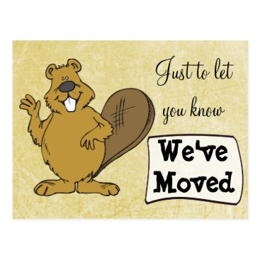 Professional Business We've Moved Squirrel New Address Postcards