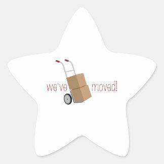 We've Moved! Star Sticker