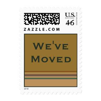 We've Moved stripes Postage
