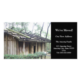 We've Moved!/Taiwan Aboriginal Village Hut Photo Card