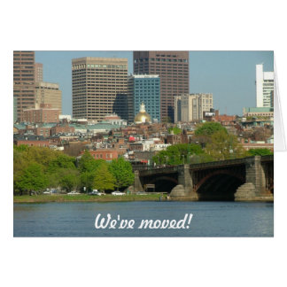 We've moved - to Boston Card