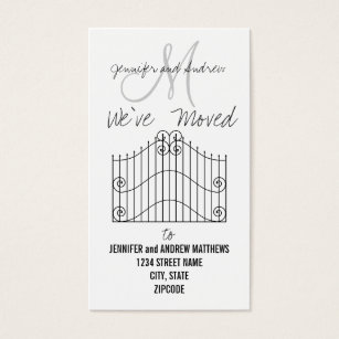 Change of address business cards templates zazzle weve moved to new address announcement business card colourmoves Images