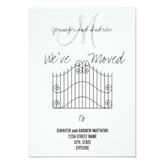 """We've Moved to New Address Announcement 5"""" X 7"""" Invitation Card"""