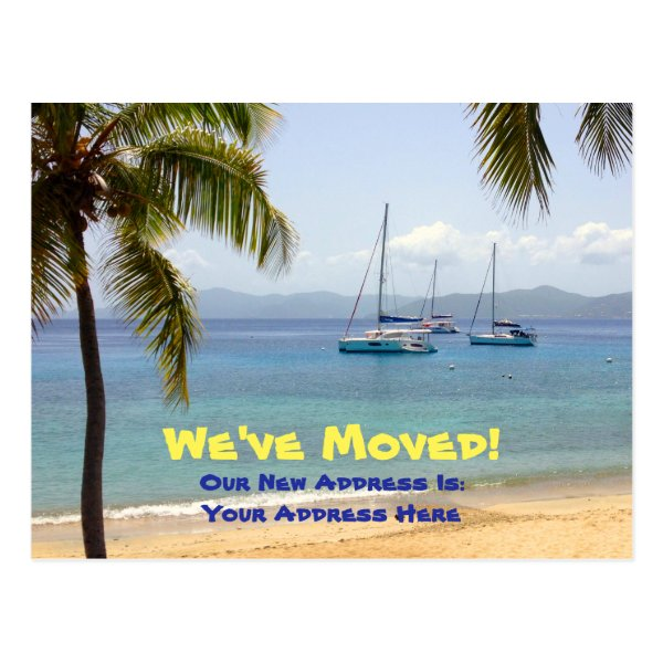 We've Moved to the Caribbean Postcard