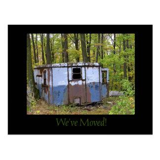 We've Moved Trailer Postcard