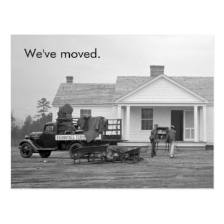 """""""We've Moved"""" Vintage Address Change Postcard"""