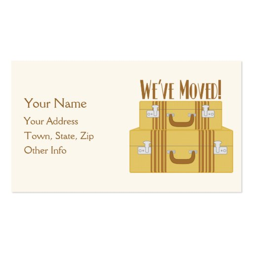 We've Moved - Vintage Suitcases Business Card