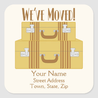 We've Moved - Vintage Suitcases Stickers