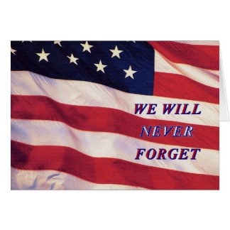 WEWILL NEVER FORGET PC1008 PDF PRINT130004 GREETING CARD