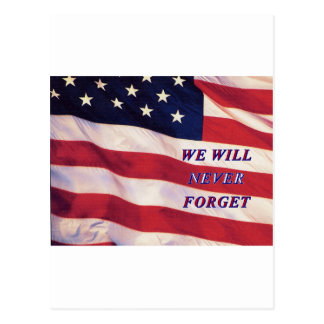 WEWILL NEVER FORGET PC1008 PDF PRINT130004 POSTCARD