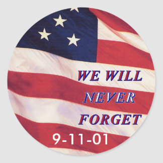 WEWILL NEVER FORGET PC1008 PDF PRINT130004 CLASSIC ROUND STICKER