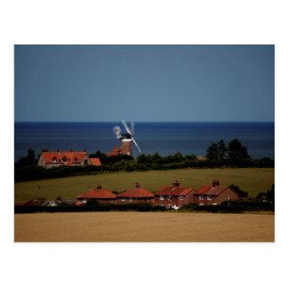 Weybourne windmill postcard