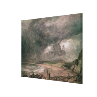 Weymouth Bay with Approaching Storm Canvas Print
