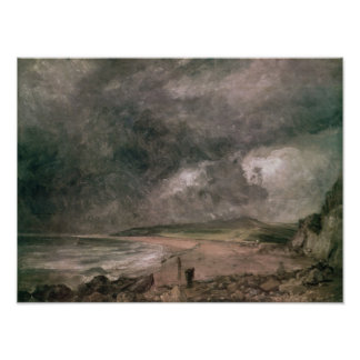 Weymouth Bay with Approaching Storm Poster