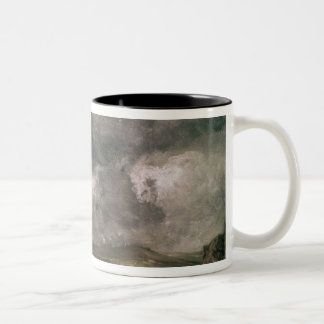 Weymouth Bay with Approaching Storm Two-Tone Coffee Mug