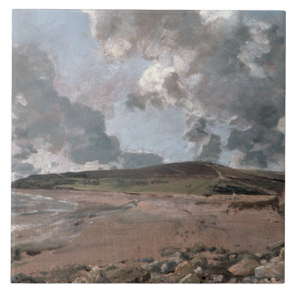 Weymouth Bay with Jordan Hill, c.1816 (oil on canv Ceramic Tile