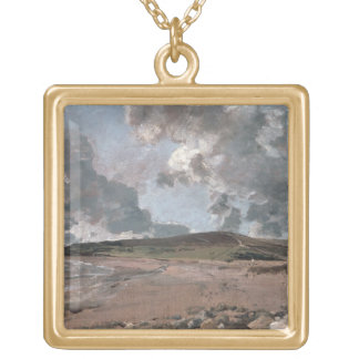 Weymouth Bay with Jordan Hill, c.1816 (oil on canv Gold Plated Necklace