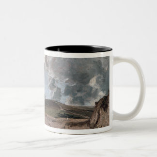 Weymouth Bay with Jordan Hill, c.1816 (oil on canv Two-Tone Coffee Mug