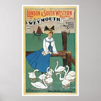 Weymouth by London & Southwestern Poster