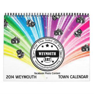 Weymouth calendario 2014 de la ciudad del mA