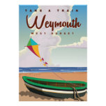 Weymouth England vintage vacation travel poster