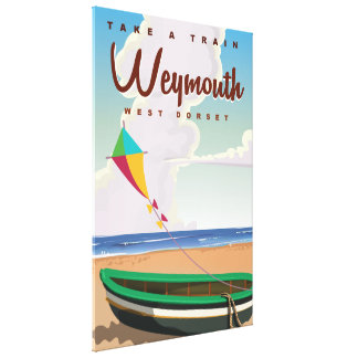 Weymouth England vintage vacation travel poster Canvas Print