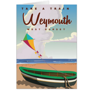Weymouth England vintage vacation travel poster Card