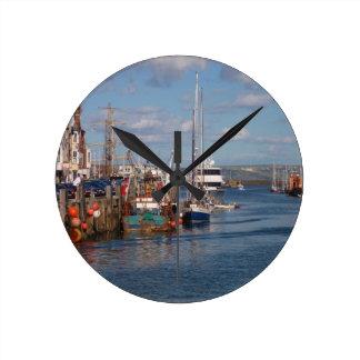 Weymouth Harbor Round Clock