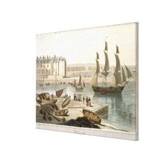 Weymouth Harbour, from 'A Voyage Around Great Brit Canvas Print