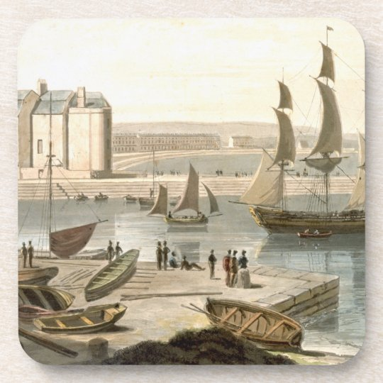 Weymouth Harbour, from 'A Voyage Around Great Brit Coaster
