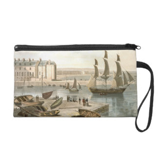 Weymouth Harbour, from 'A Voyage Around Great Brit Wristlet Purse