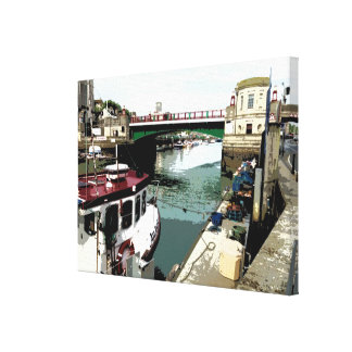 Weymouth Harbour - Weymouth, Dorset, UK Canvas Print