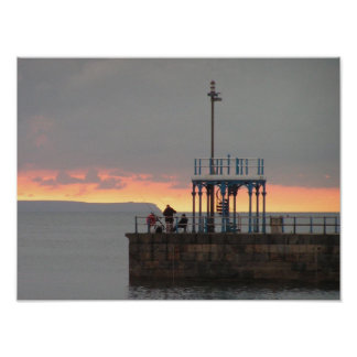 Weymouth Pier at Dawn Poster