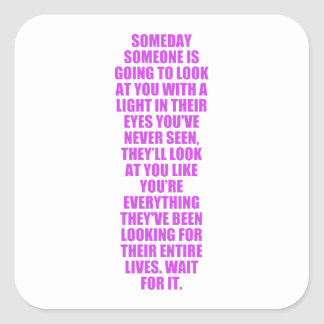 WFL WAITING FOR LOVE MAGIC EYES ADVICE WISE QUOTES SQUARE STICKER