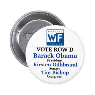 WFP for Obama Gillibrand and Bishop 2 Inch Round Button