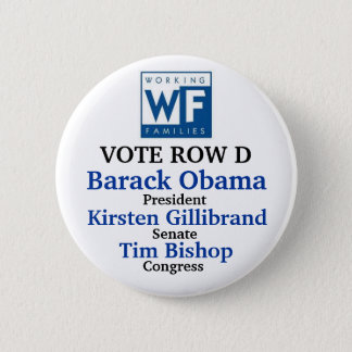 WFP for Obama Gillibrand and Bishop Button