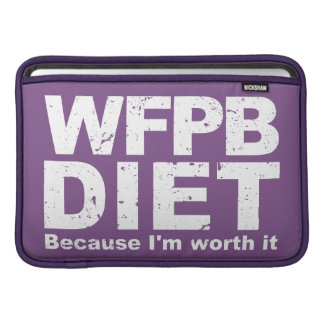 WFPB I'm Worth It (wht) Sleeve For MacBook Air
