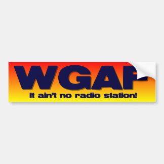 WGAF (quién da una F ** K) Pegatina De Parachoque