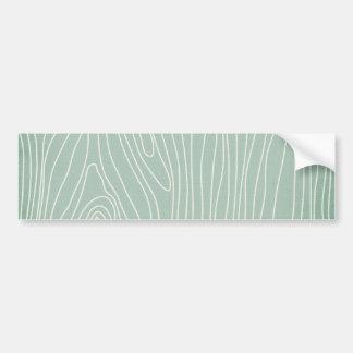 WGM MINT GREEN WHITE WOOD TEXTURE SKETCH WALLPAPER CAR BUMPER STICKER