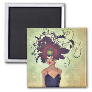 WH 002 Gothic Art 2 Inch Square Magnet