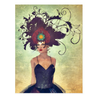 WH 002 Surreal Gothic Art Postcard