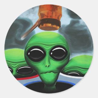 Whack a Alien Sticker