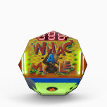 """Whack a Mole Award<br><div class=""""desc"""">The classic arcade or carnival game &quot;Whac a Mole&quot; is bright with neon green,  red,  yellow and blue.  This award is fully customizable.</div>"""