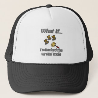 whack a mole trucker hat