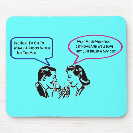Whack A Snitch Twisted Humor Mousepad