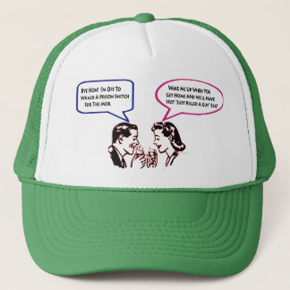Whack A Snitch Twisted Humor Trucker Hat