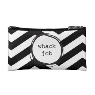Whack Job Crazy Funny Makeup Bag