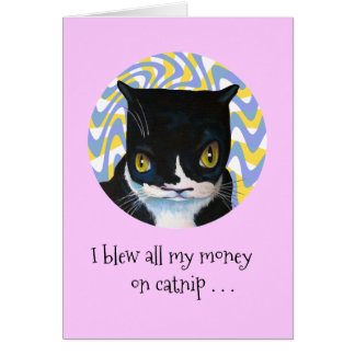 Whacked-out Cat Birthday Card